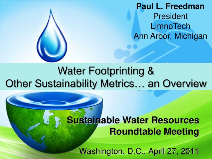 sustainable water resources roundtable meeting n.