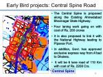 early bird projects central spine road