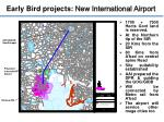 early bird projects new international airport