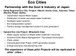 eco cities partnership with the govt industry of japan