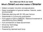 our cities our life our work what s smart and what makes it smarter