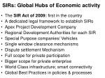 sirs global hubs of economic activity