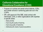california collaborative for educational excellence ccee