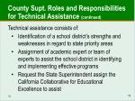 county supt roles and responsibilities for technical assistance continued
