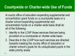 countywide or charter wide use of funds