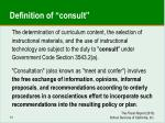 definition of consult