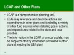 lcap and other plans