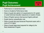 pupil outcomes pupil achievement