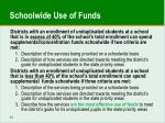 schoolwide use of funds
