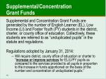 supplemental concentration grant funds