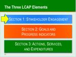 the three lcap elements