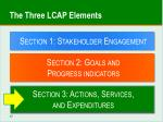 the three lcap elements2