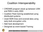 coalition interoperability
