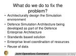 what do we do to fix the problem