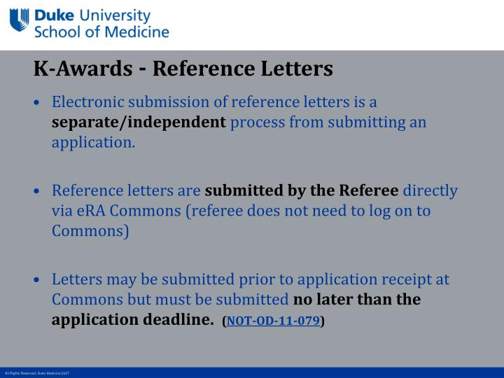 Ppt nuts and bolts of k award grant submission process denise wynn k awards reference letters spiritdancerdesigns Choice Image