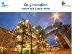 co generation renewable green power