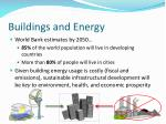 buildings and energy