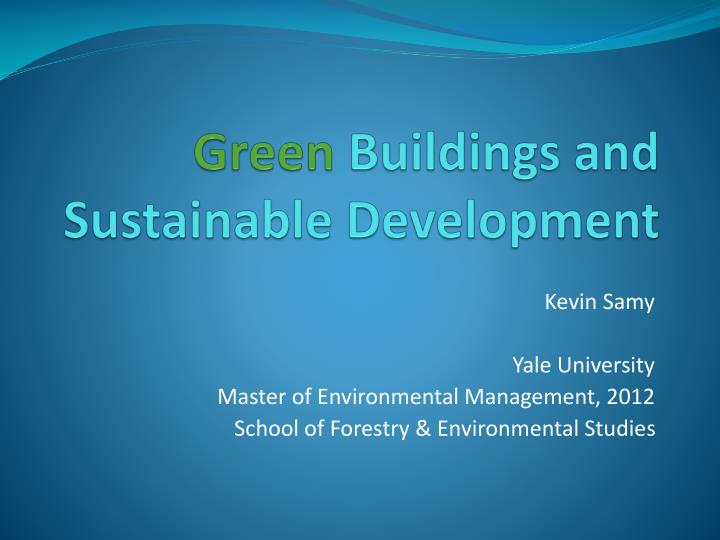 green buildings and sustainable development n.