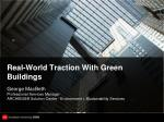 real world traction with green buildings