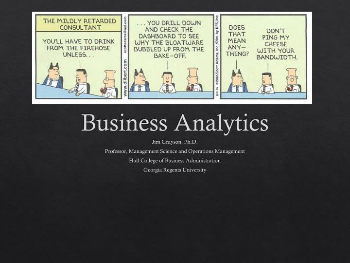 demystifying business analytics n.