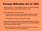 kansas nebraska act of 1854