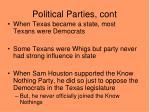 political parties cont