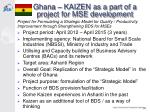 ghana kaizen as a part of a project for mse development