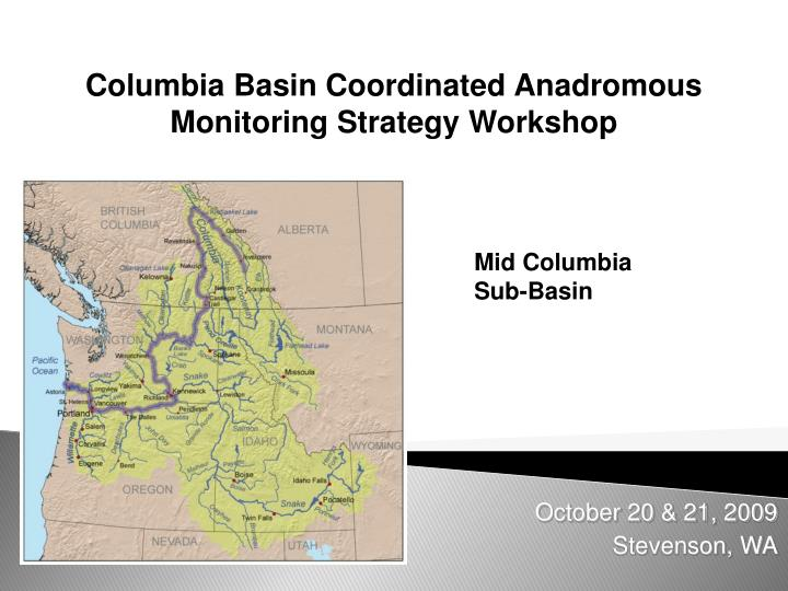 columbia basin coordinated anadromous monitoring strategy workshop n.