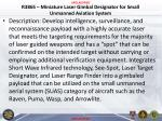 r3865 miniature laser gimbal designator for small unmanned aviation system