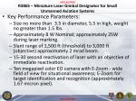 r3865 miniature laser gimbal designator for small unmanned aviation systems