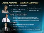 duet enterprise solution summary