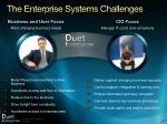 the enterprise systems challenges