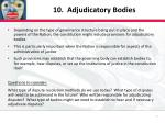 10 adjudicatory bodies