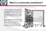 what is a community constitution