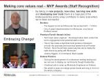 making core values real mvp awards staff recognition1