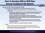 how to develop 3m to 5m new annual funding for em systems1