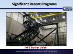significant recent programs1