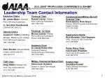 leadership team contact information