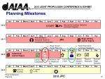 planning milestones