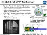 2010 larc 4 x4 upwt test summary
