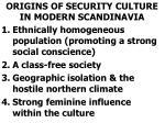 origins of security culture in modern scandinavia