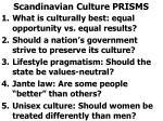 scandinavian culture prisms