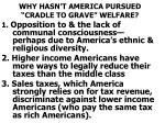 why hasn t america pursued cradle to grave welfare