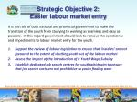 strategic objective 2 easier labour market entry