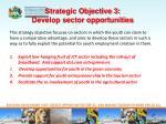 strategic objective 3 develop sector opportunities