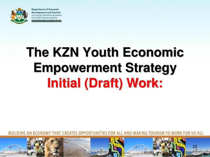 The KZN Youth Economic Empowerment Strategy