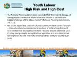 youth labour high risk and high cost