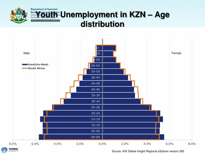 Youth Unemployment in KZN – Age distribution