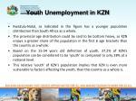 youth unemployment in kzn