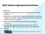 joint venture agreement provisions1